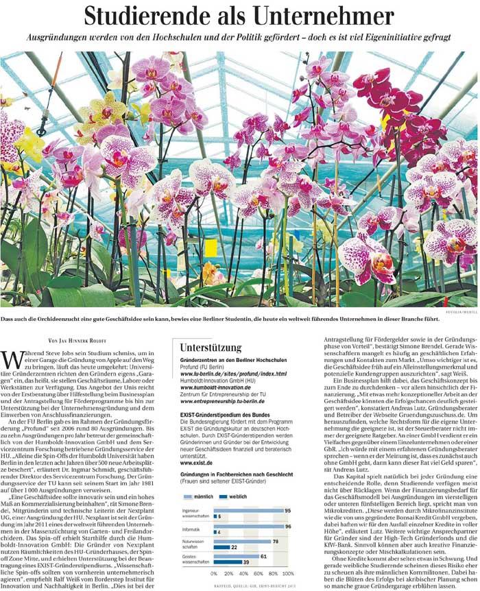 Artikel in der Berliner Zeitung