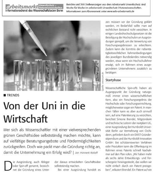 Artikel im Informationsdienst 'arbeitsmarkt'